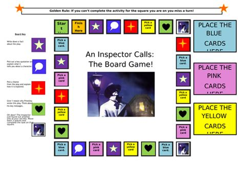 15th june themes in an inspector calls revision an inspector calls revision board game by amyjaney88