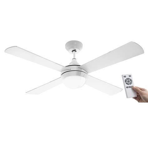 Bunnings Ceiling Fans With Lights Arlec 120cm White Columbus Ceiling Fan With Remote Bunnings Warehouse