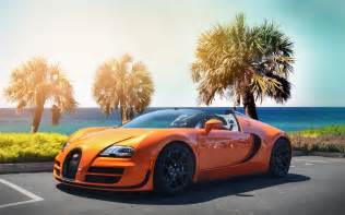 Orange Bugatti Veyron Bugatti Veyron Hypercar Orange Color Wallpapers Wide