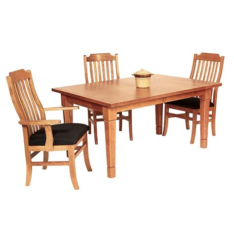 craftsman style dining room table solid wood craftsman style dining table crafted in vermont