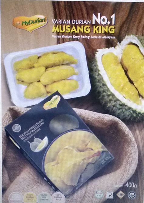 jual frozen durian musang king  lapak beli buah