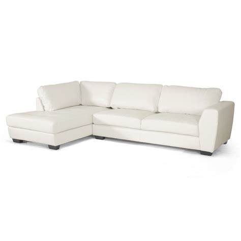 white chaise sofa white sectional sofa with chaise home furniture design