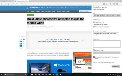 popup blocker for microsoft edge techsort screenshots microsoft edge preview techrepublic