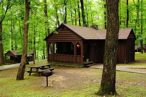 Va State Park Cabins by Photo Courtesy Of The West Virginia Department Of Commerce