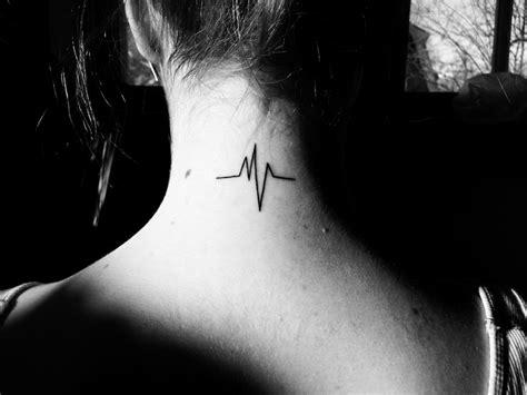 heartbeat tattoo neck 97 best heart beat tattoos images on pinterest heart