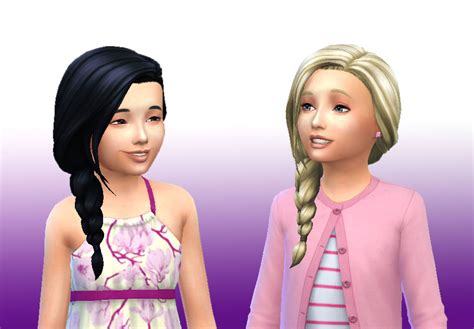 kids hair sims 4 hairstyle gallery mystufforigin braid side for girls sims 4 hairs http