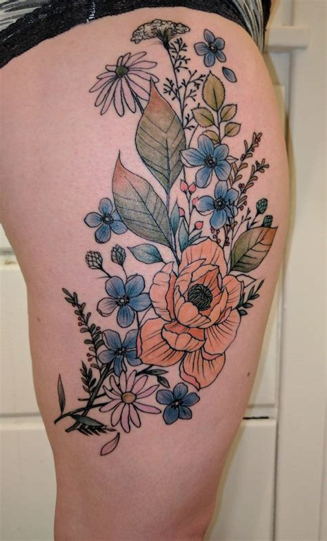 watercolor tattoo rochester ny been wanting a wildflower for ages tattoos
