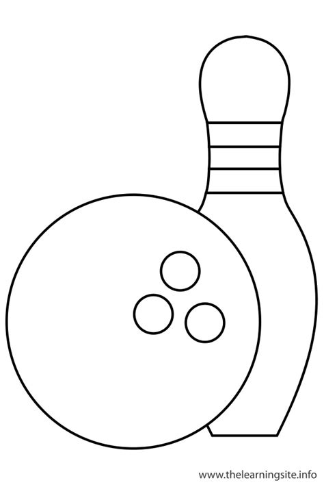Coloring Pages Bowling Balls Pins | bowling free colouring pages