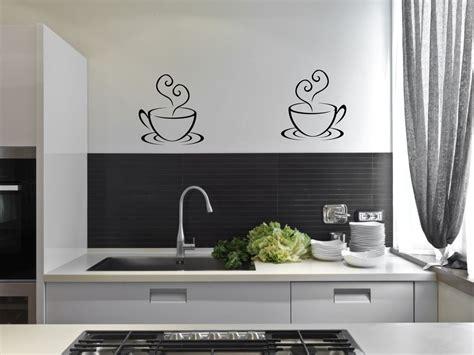 Dekor Dinding Panel Coffee 2 coffee cups tea kitchen wall stickers cafe vinyl