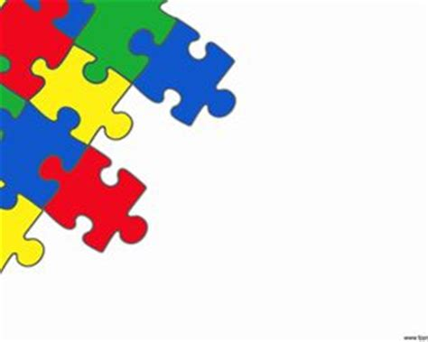 autism puzzle template puzzle powerpoint with white background and colored puzzle