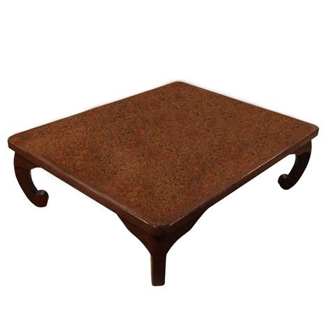 japanese wakasa persimmon lacquer square low table for