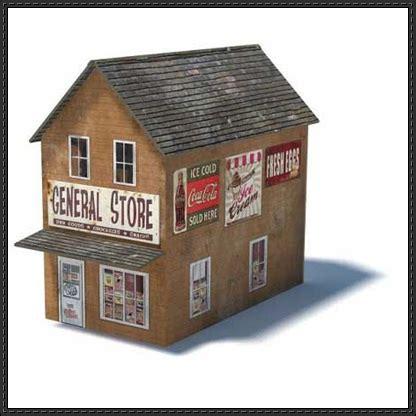 free paper model buildings downloads general store free building paper model download