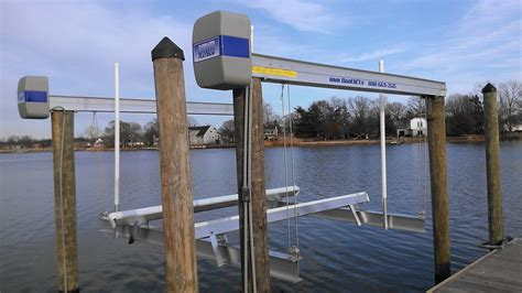 twin rivers marine construction nj waterfront - Boat Lift Nj
