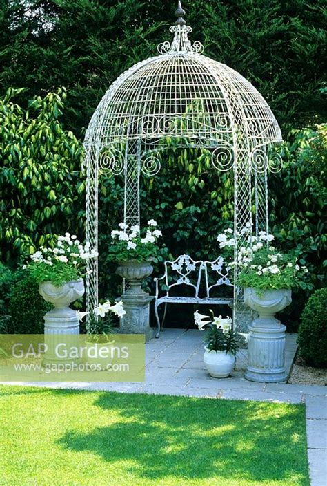 gap gardens decorative metal gazebo  containers