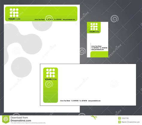 business card logo letterhead creator letterhead envelope and business card stock vector