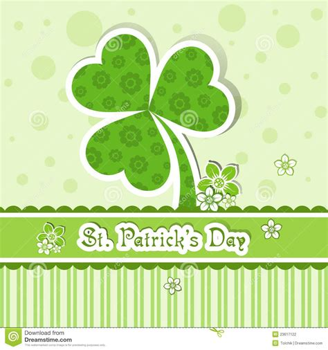 St S Day Photo Card Template by Template St S Day Greeting Card Stock Photography