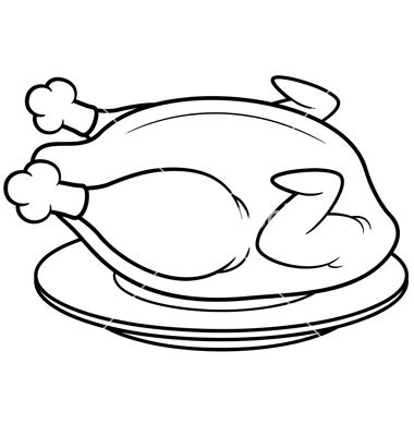 Roast Chicken Outline by Outline Of Chicken Clipart Best