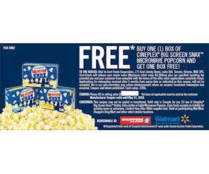 cineplex voucher cineplex coupon for free box of cineplex with purchase