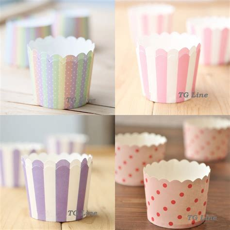 How To Make Paper Cupcake Liners - aliexpress buy 100pcs 4colors available small size