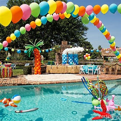 Pool Party Decorations | how to host a fund diy pool party craft o maniac