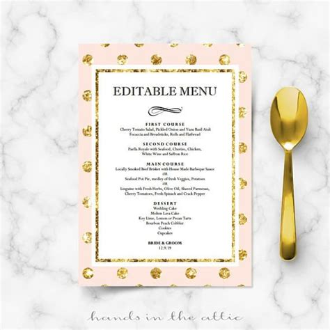 Buffet Table Cards Template by Diy Bridal Shower Menu Cards For Wedding Reception