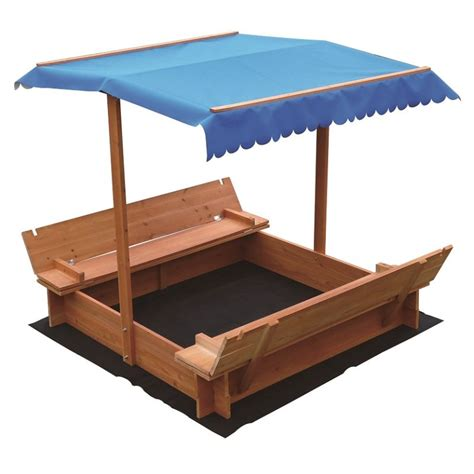 Wooden Canopy Outdoor Wooden Sandpit With Uv Protected Canopy Buy