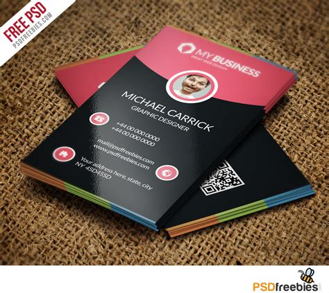 card free modern corporate business card free psd vol 2