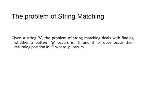 a simple tree pattern matching algorithm kmp pattern matching algorithm