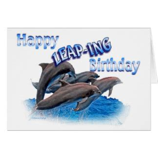 leap year birthday card template happy birthday dolphin cards invitations photocards more