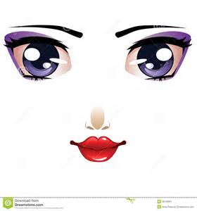 Cartoon female face stock image image 38126091