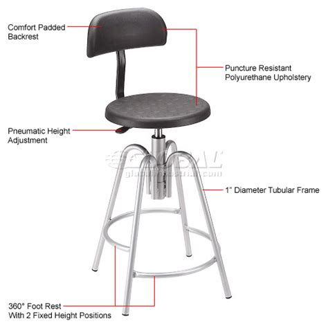 Garage Stool With Backrest by Stools Polyurethane Shop Stool With Backrest Polyurethane Black 250789