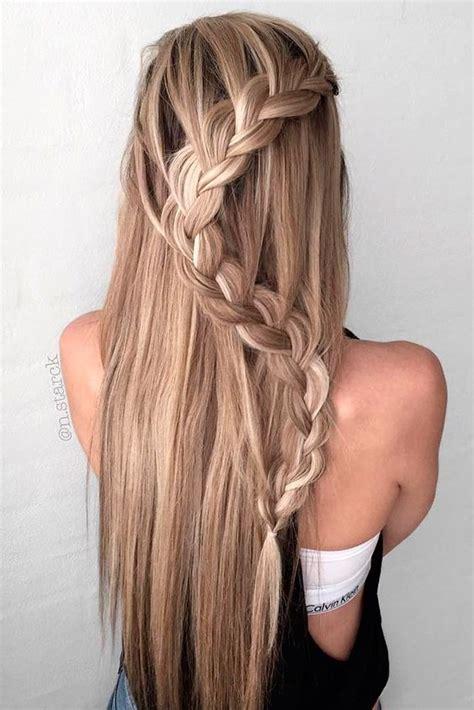 braided half up waterfall kids hair ideas pinterest 10 easy stylish braided hairstyles for long hair 2018