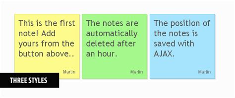 layout css sticky enabled ajax enabled sticky notes with php jquery tutorialzine