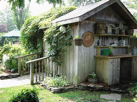 Rustic Potting Sheds by Potting Bench Outside The Shed Garden
