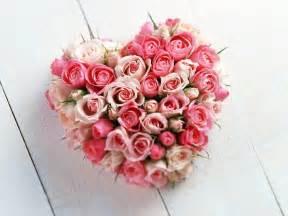 Gf Dinner Ideas Bunch Of Flowers Heart Shaped Love Wallpaper