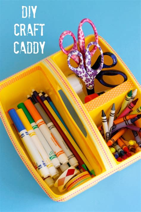diy craft caddy back to school diy craft caddy make and takes