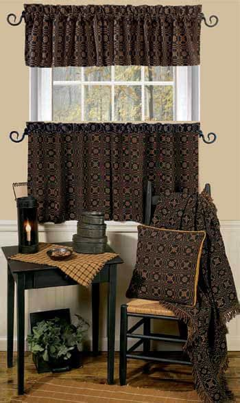 Kitchen Collection Lover S Knot Lined Curtain Valance
