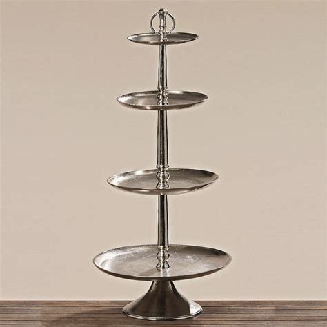 Etagere Hoch by Etagere Bodenetagere Tablett Rund Antik Silber Look
