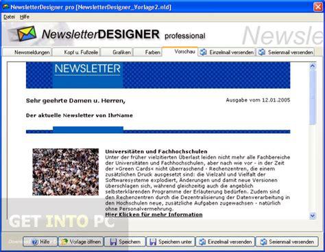 Design Pro Vorlage Erstellen Newsletterdesigner Pro Free