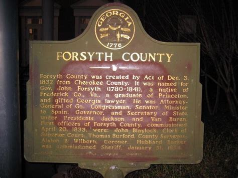 Forsyth County Ga Civil Search Forsyth County Historical Markers On Waymarking