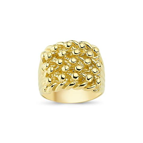 9ct yellow gold gents keeper ring sks jewellers
