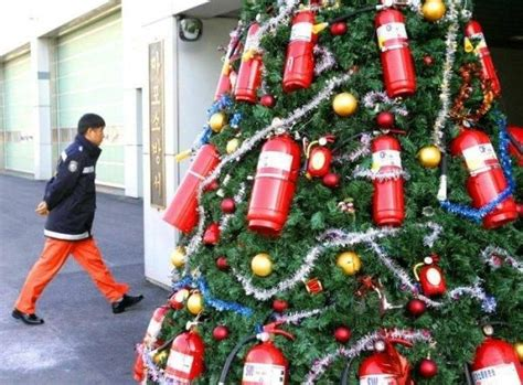fire extinguisher christmas tree keep fire in your life
