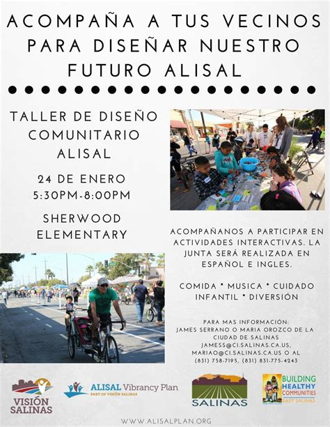 workshop layout in spanish help improve alisal streets community design workshop