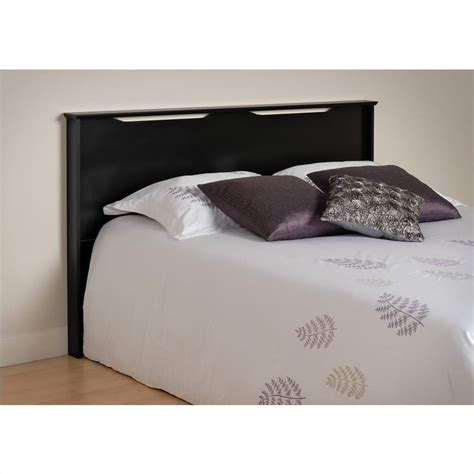prepac coal harbor panel black finish headboard