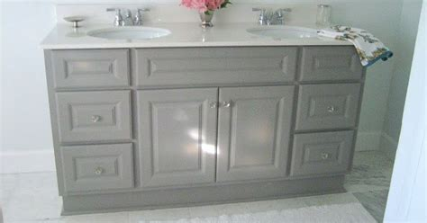 bathroom vanity paint diy custom gray painted bathroom vanity from a builder