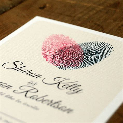 Original Wedding Invitations by Fingerprint Wedding Invitation And Save The Date By