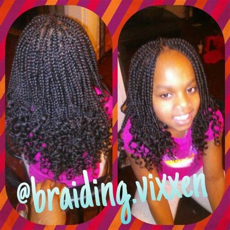 box braids with curly ends kids box braids w curly ends my work pinterest kid