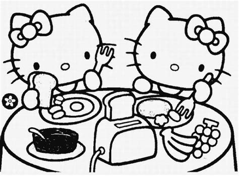 hello kitty painting coloring pages printable coloring pages