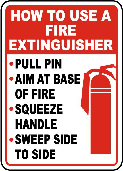 how to use extinguisher label b1873 by safetysign