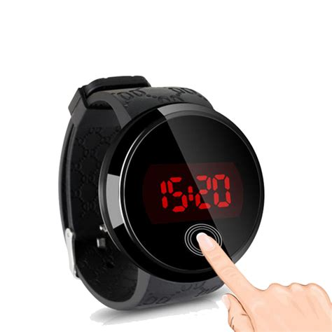 waterproof mens womens digital led touch sports silicone